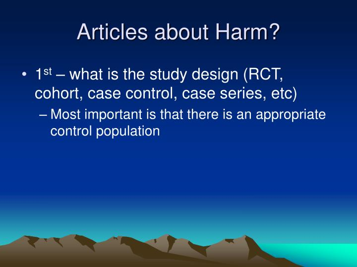 Articles about Harm?