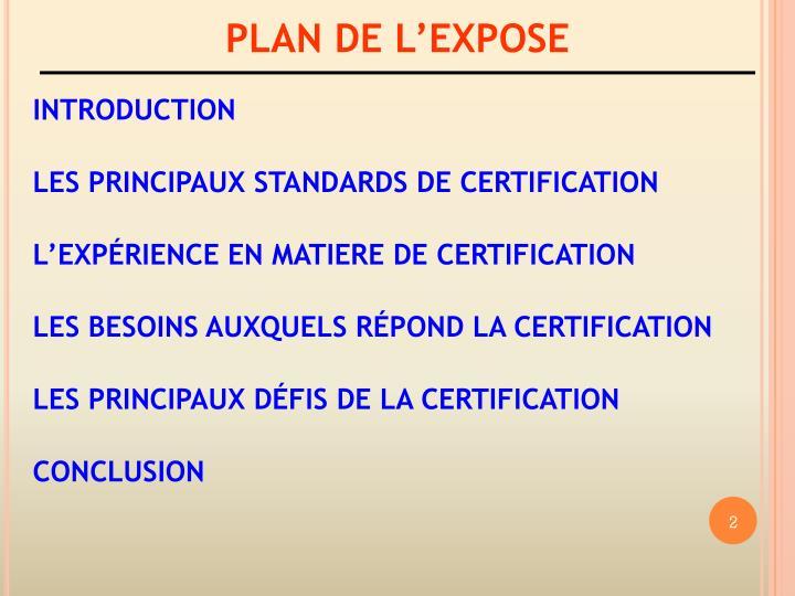 PLAN DE LEXPOSE