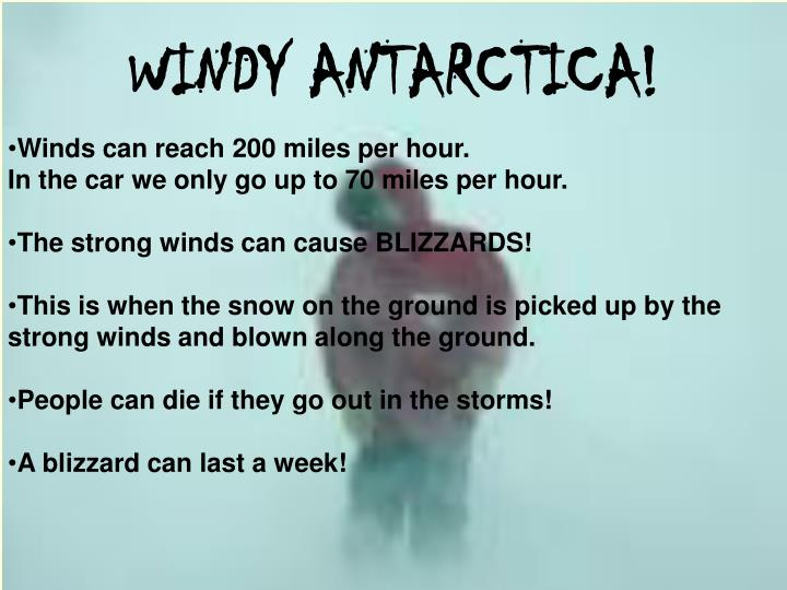 WINDY ANTARCTICA!