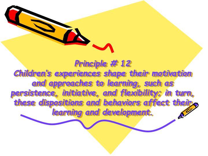 Principle # 12