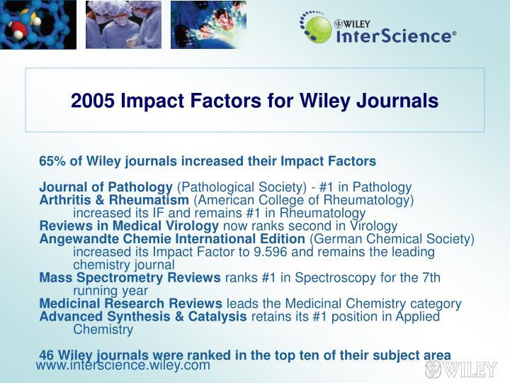 2005 Impact Factors for Wiley Journals
