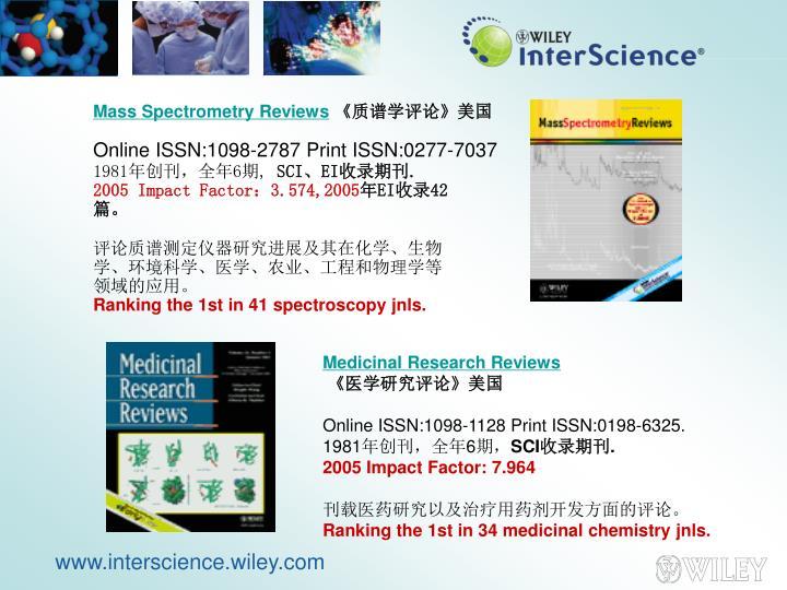 Mass Spectrometry Reviews