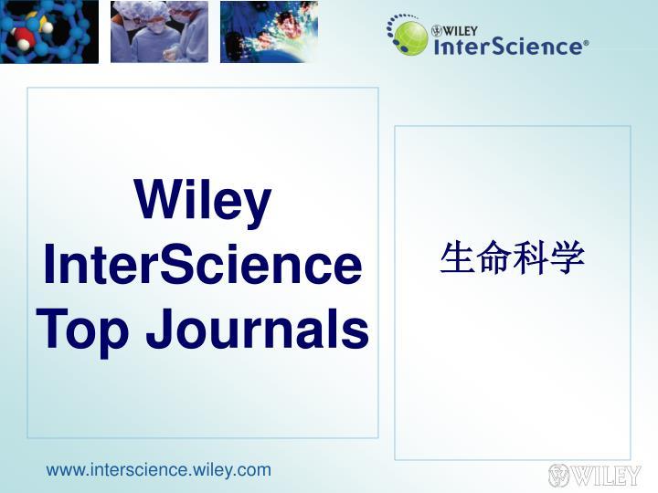 Wiley InterScience Top Journals