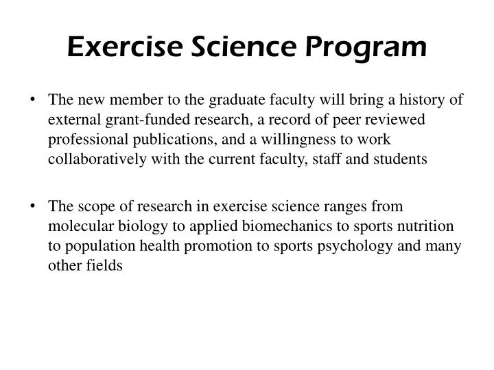 Exercise Science Program