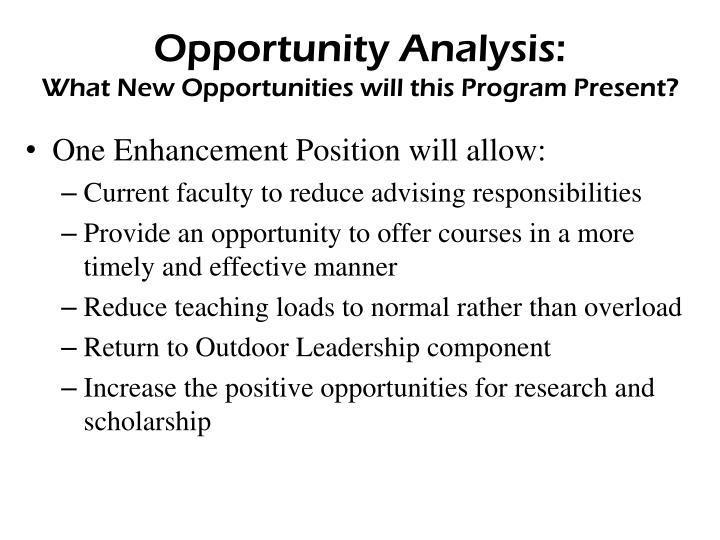 Opportunity Analysis: