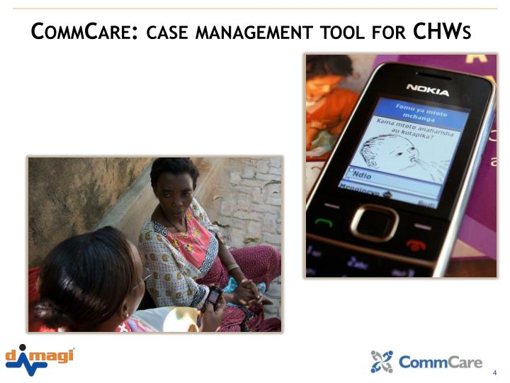 CommCare: case management tool for CHWs