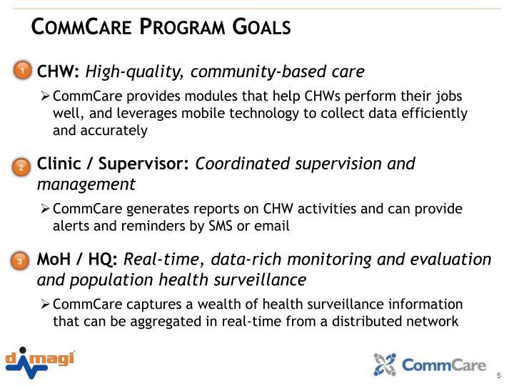 CommCare Program Goals