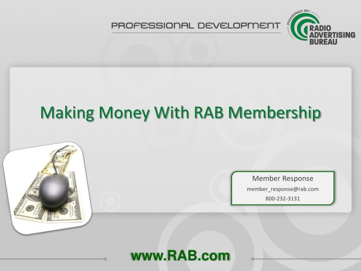 Making Money With RAB Membership