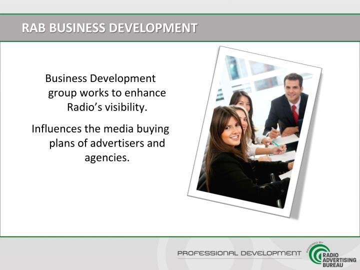 RAB BUSINESS DEVELOPMENT
