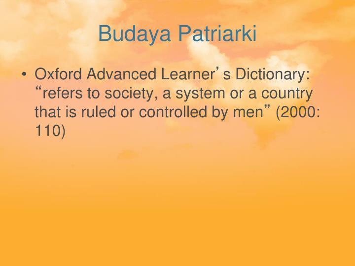 Budaya Patriarki