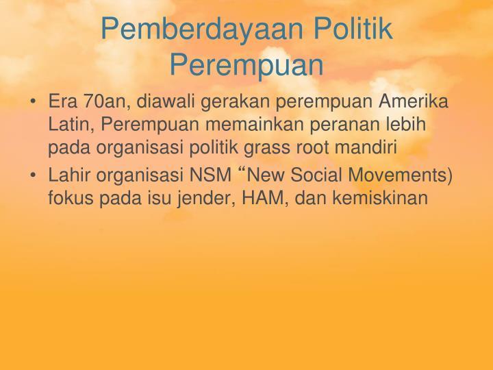 Pemberdayaan Politik Perempuan