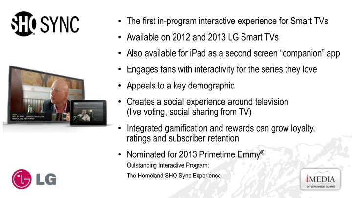 The first in-program interactive experience for Smart TVs