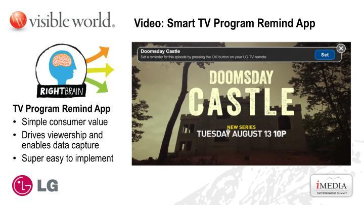 Video: Smart TV Program Remind App
