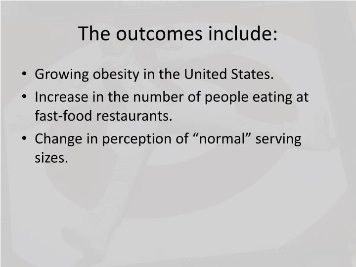 The outcomes include: