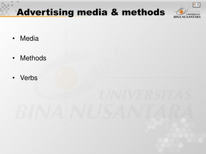 Advertising media & methods