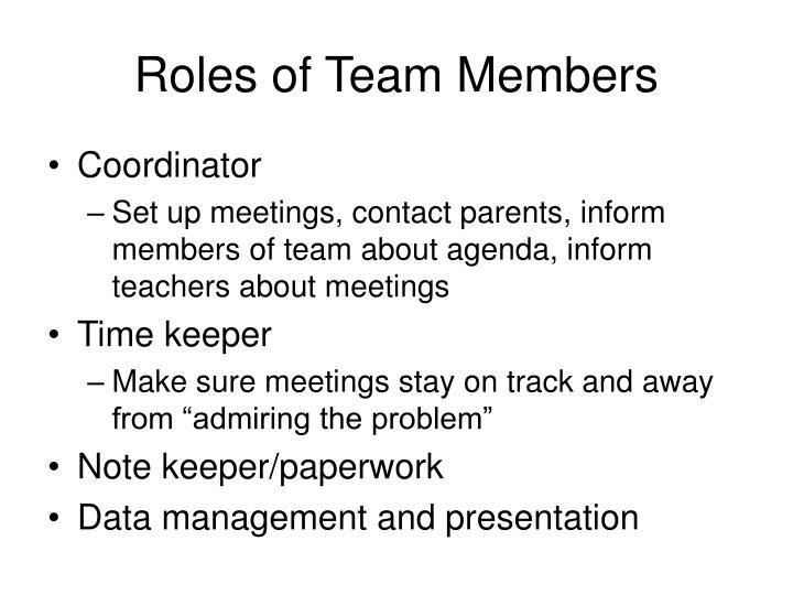 Roles of Team Members