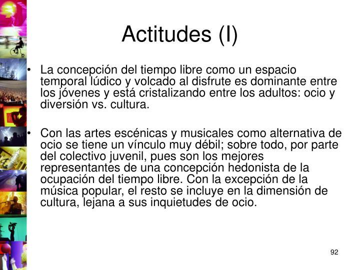 Actitudes (I)