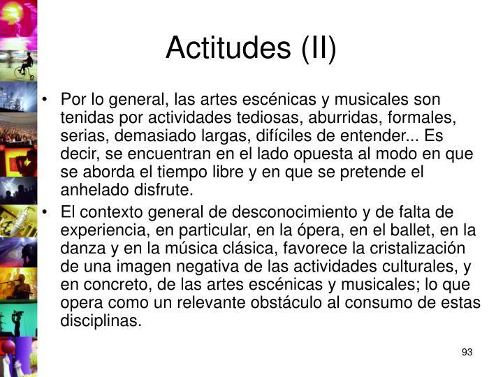 Actitudes (II)