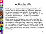 actitudes ii