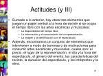 actitudes y iii