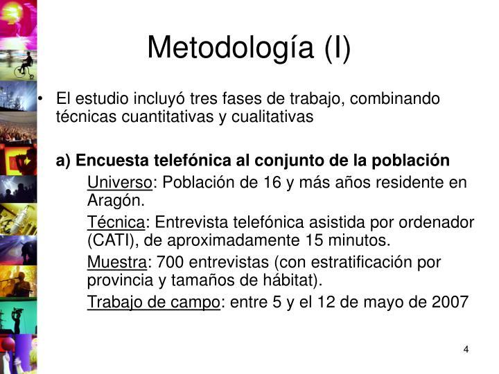 Metodología (I)