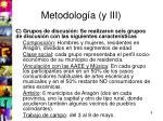 metodolog a y iii