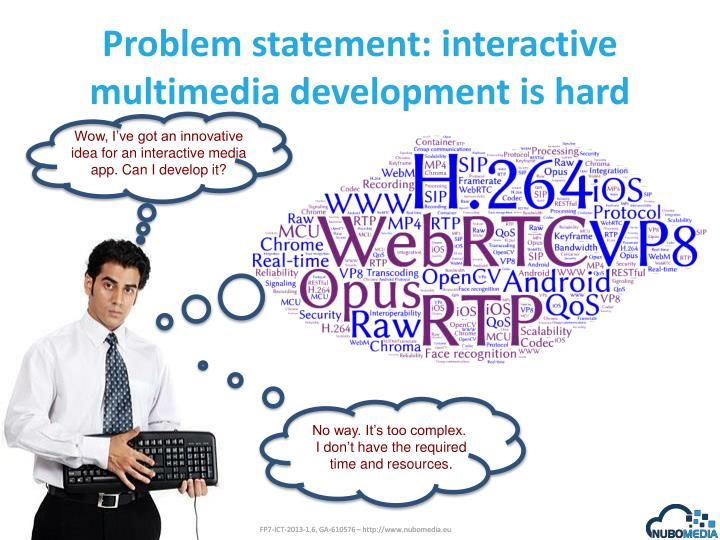 Problem statement i nteractive multimedia development is hard