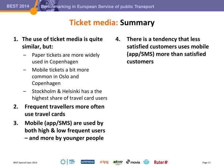 Ticket media: