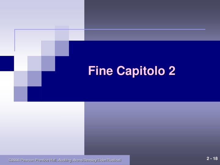 Fine Capitolo 2