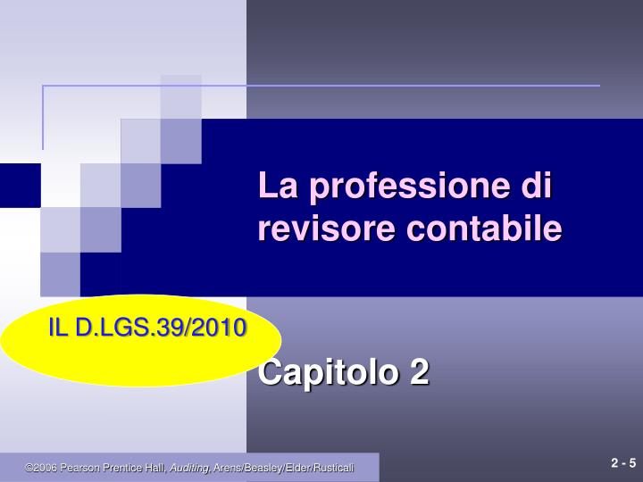 La professione di revisore contabile
