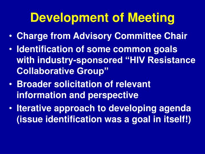 Development of Meeting