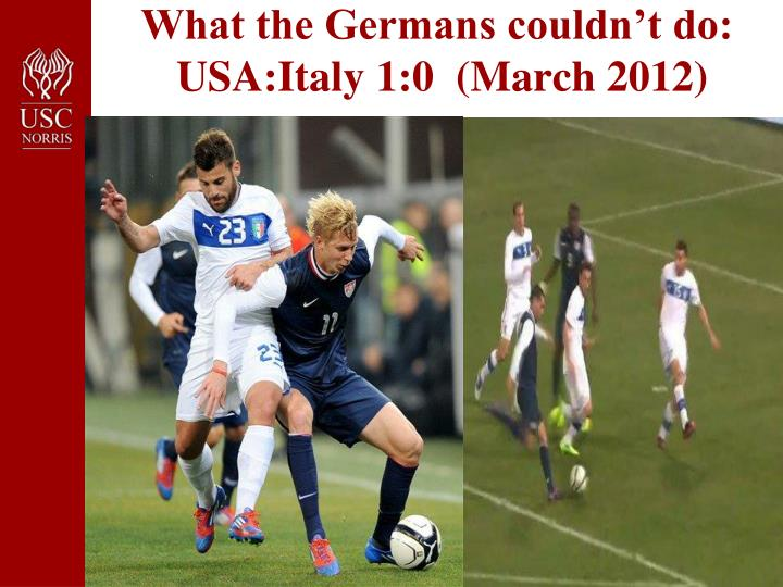 What the Germans couldn't do: