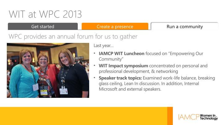 WIT at WPC 2013