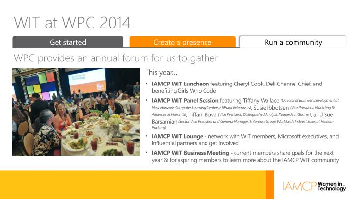 WIT at WPC 2014
