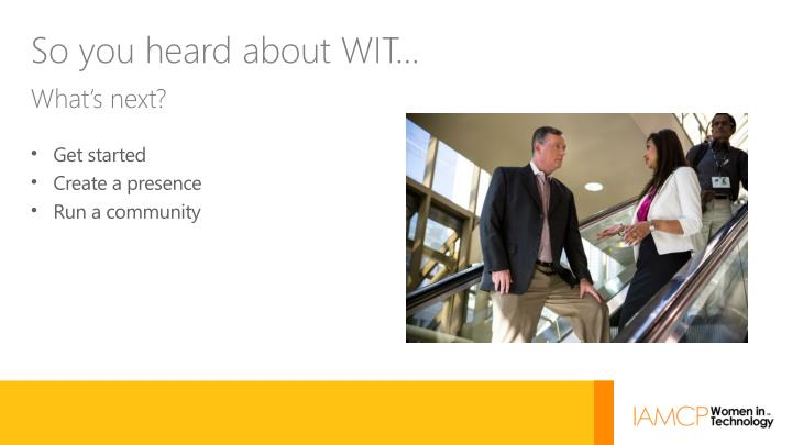 So you heard about WIT…