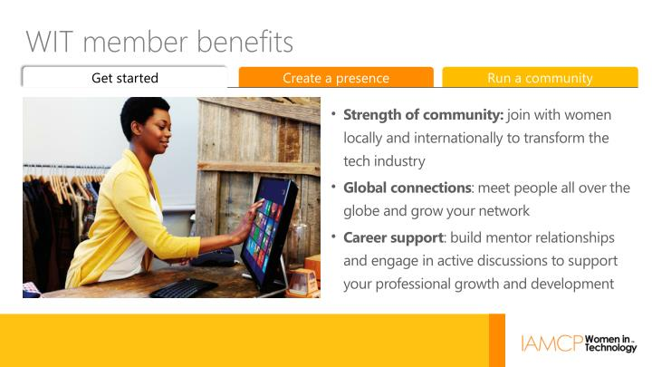 WIT member benefits