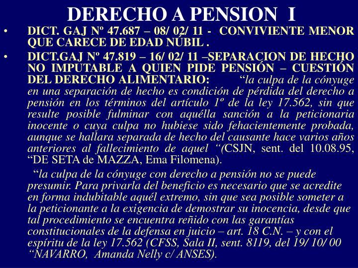 DERECHO A PENSION  I