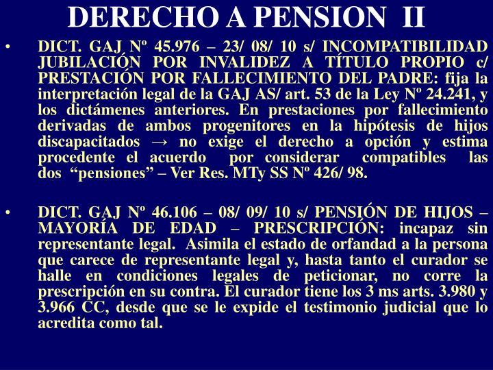 DERECHO A PENSION  II