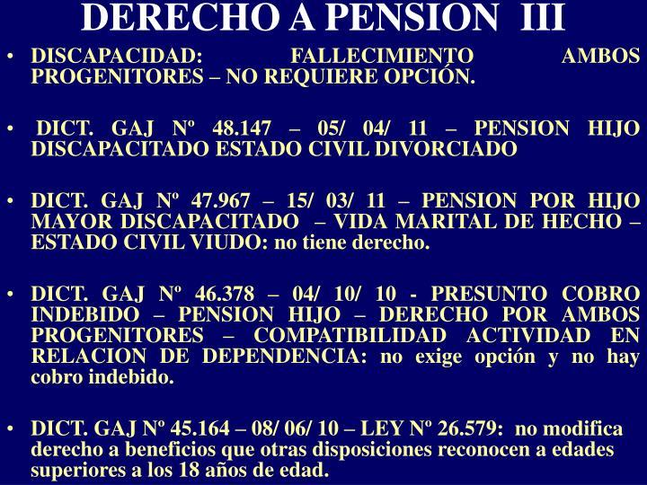 DERECHO A PENSION  III