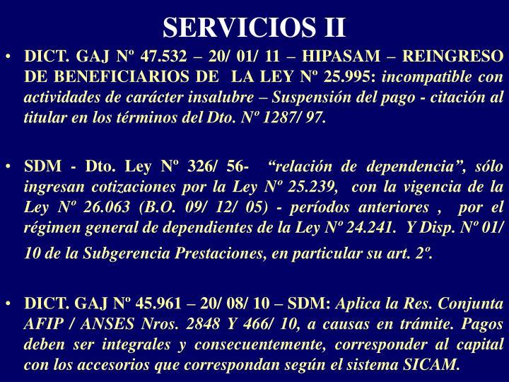 SERVICIOS II