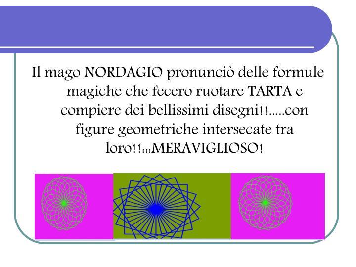 Il mago NORDAGIO pronunciò delle formule magiche che fecero ruotare TARTA e compiere dei bellissimi disegni!!.....con figure geometriche intersecate tra loro!!:::MERAVIGLIOSO!