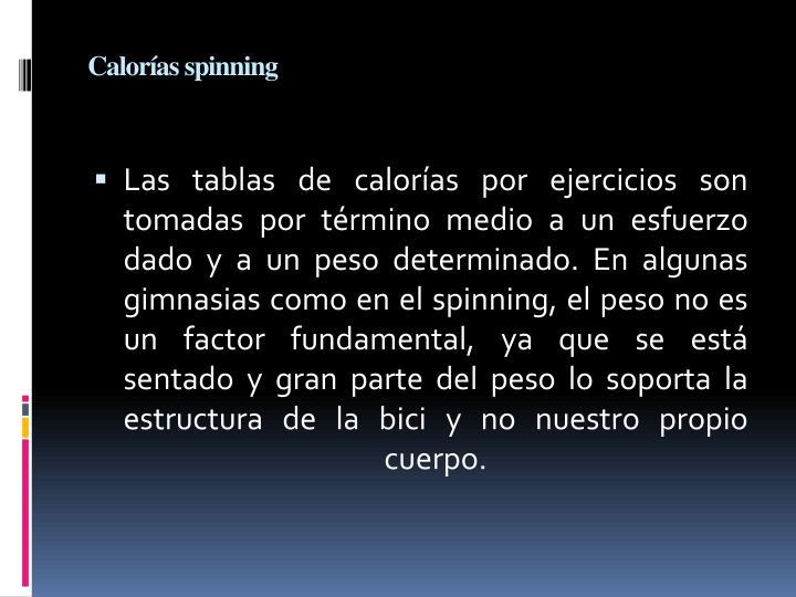 Calorías spinning