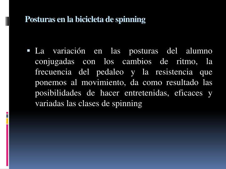 Posturas en la bicicleta de spinning