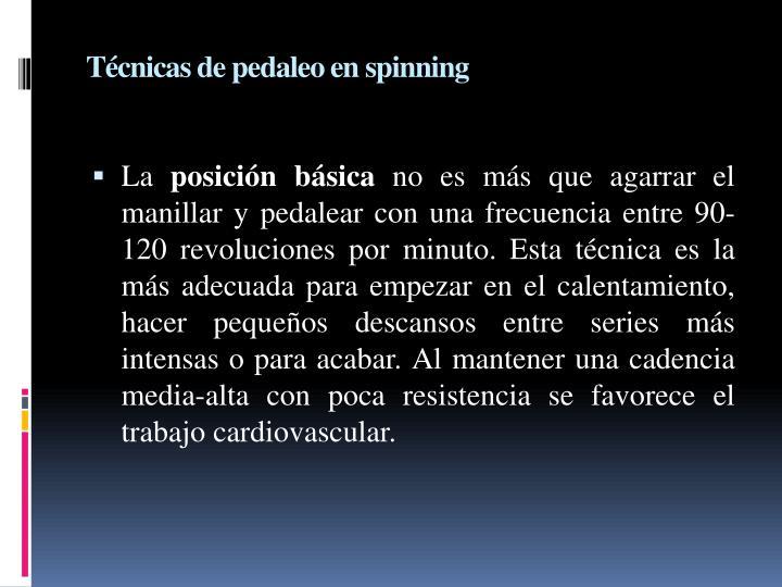 Técnicas de pedaleo en spinning
