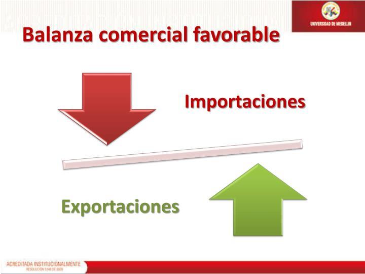 Balanza comercial favorable