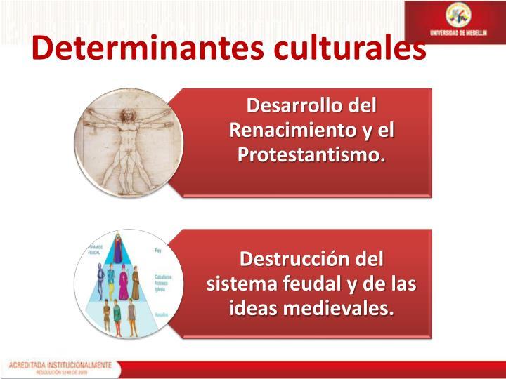 Determinantes culturales