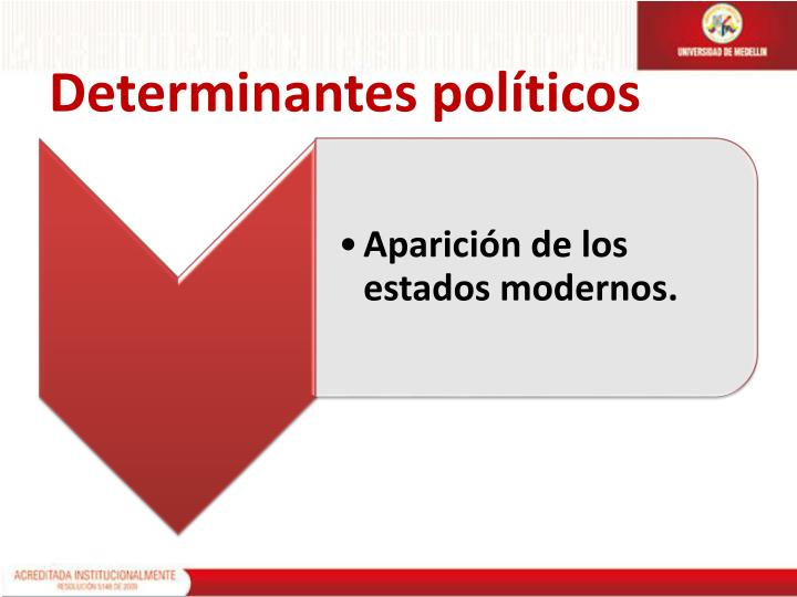 Determinantes políticos