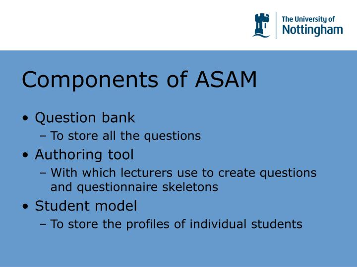 Components of ASAM