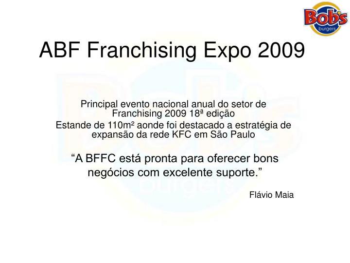 ABF Franchising Expo 2009