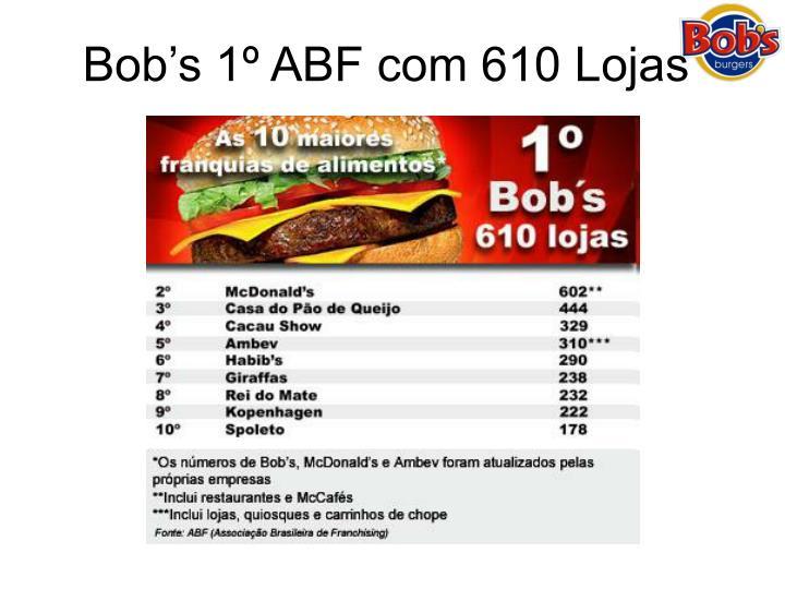 Bob's 1º ABF com 610 Lojas